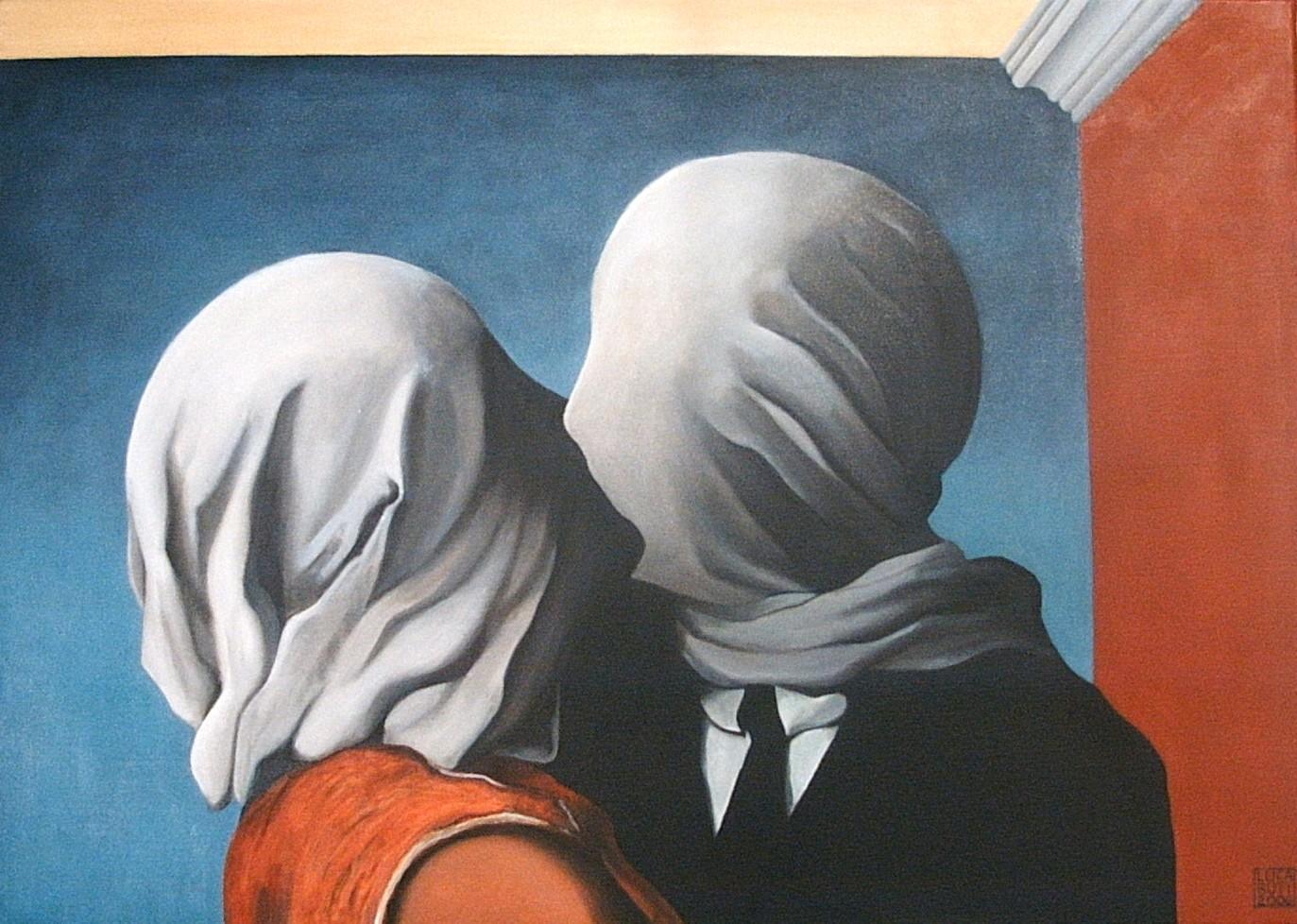 LES AMANTS  (Los Amantes)  René Magritte . París 1928.