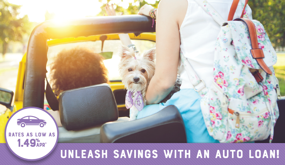 Rates as low as 1.49& APR. Unleash savings with an auto loan.