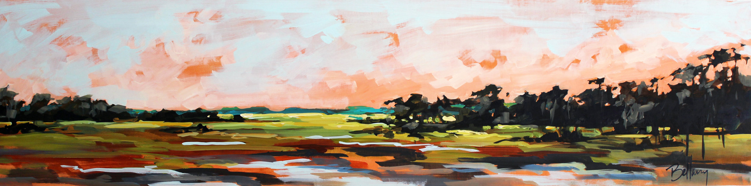 Marsh 12x48 Oil on Canvas $2200
