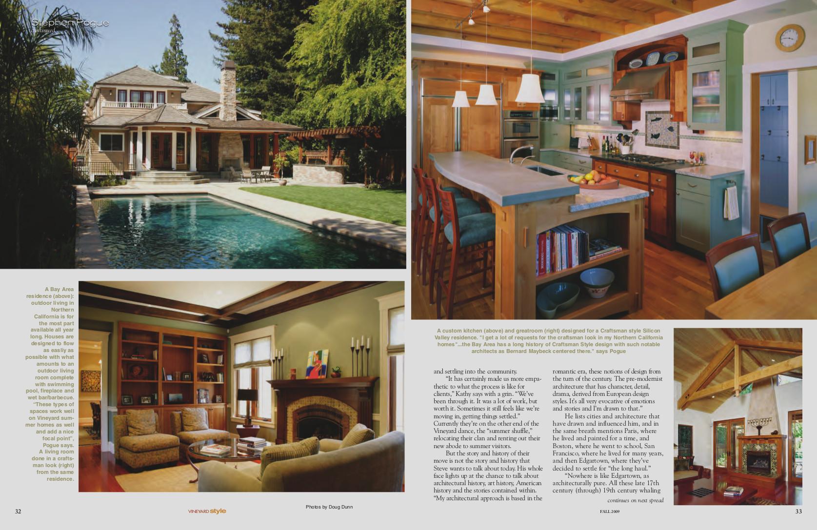 "Vineyard Style Magazine. - ""Renaissance Man: Stephen Pogue"""