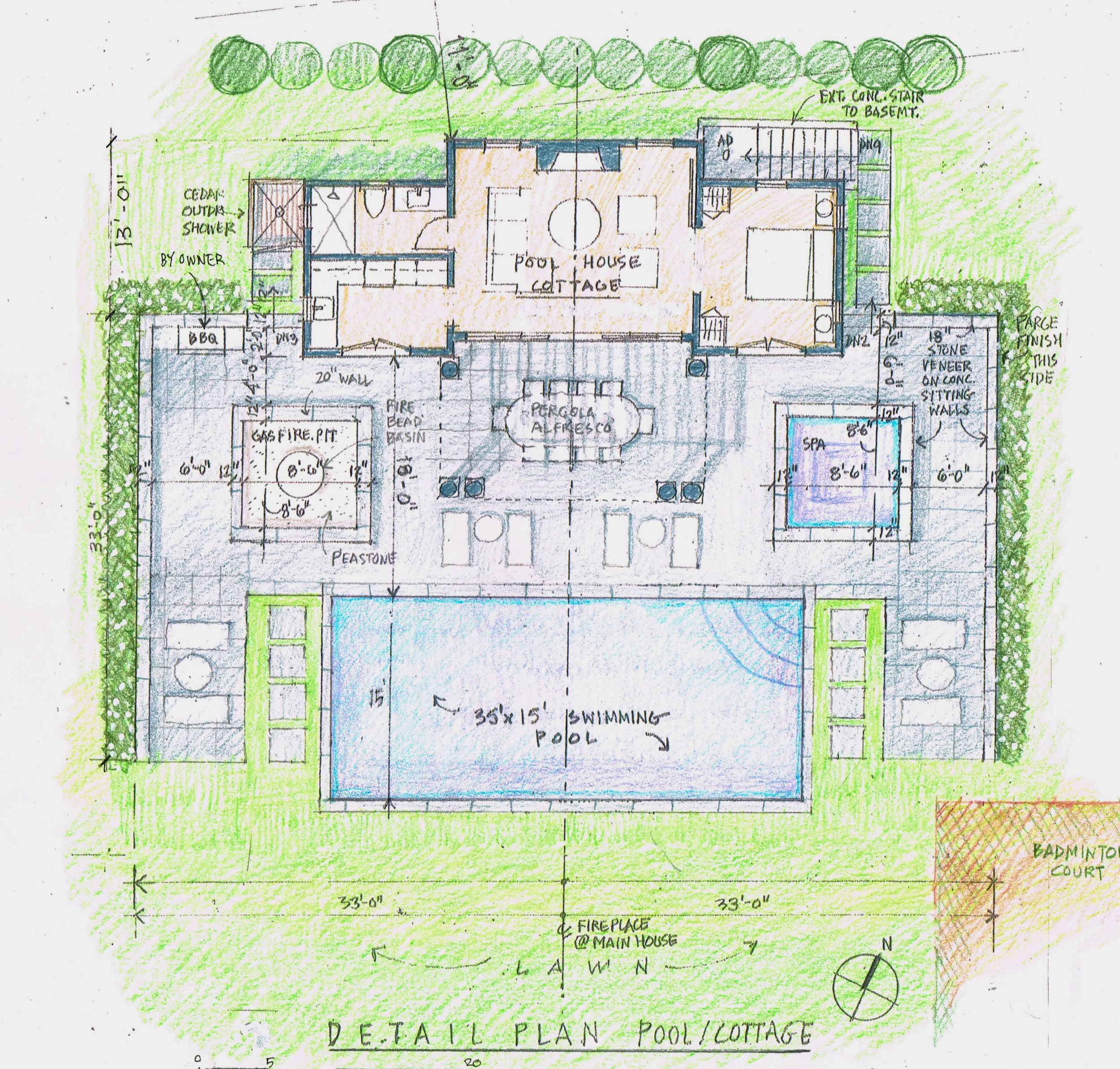 Plan. - Once Stephen has completed your design, he will submit his drawings to the designated planning authorities for approval. Living on-island allows him to communicate directly with the relevant officials and facilitate each step in this technical process.