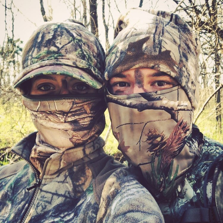 Turkey hunting with my main squeeze.