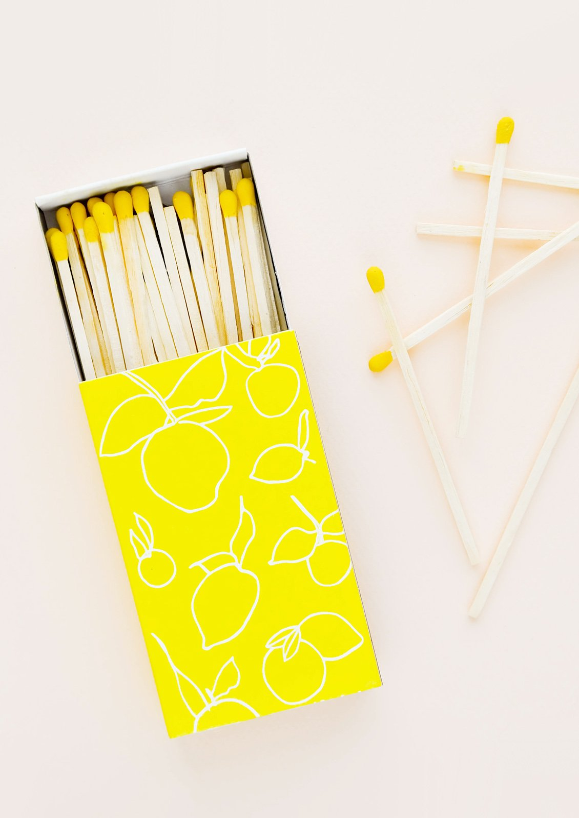 Citrus Print Matches, $9