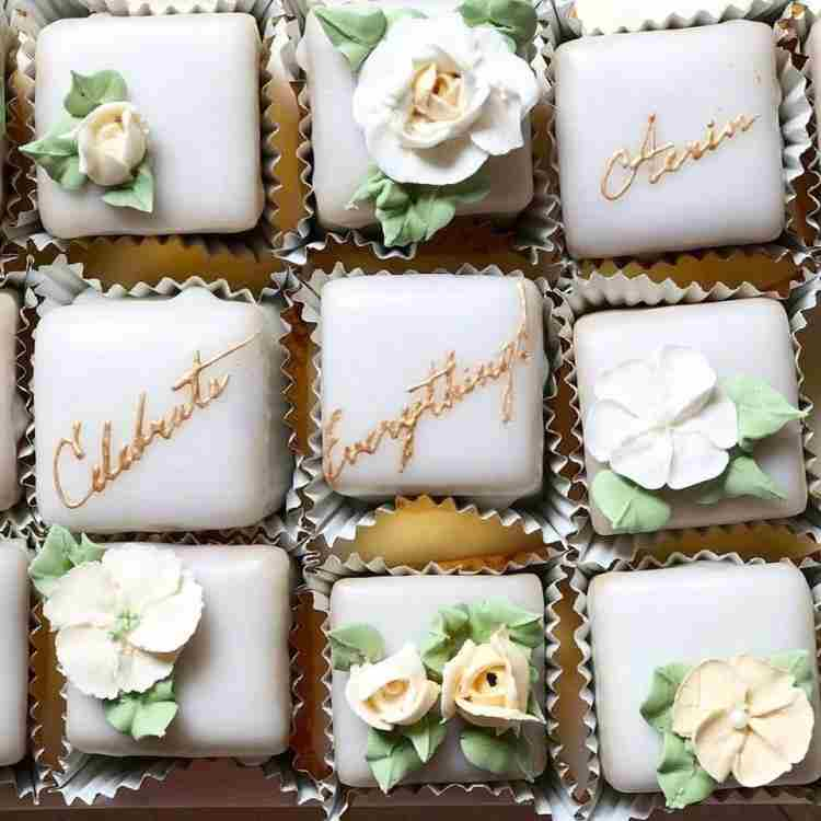 Personalized Petit Fours, $62