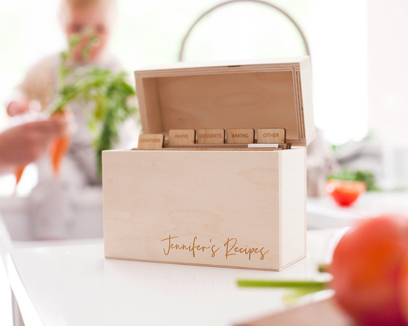 Personalized Recipe Box, $47.20+