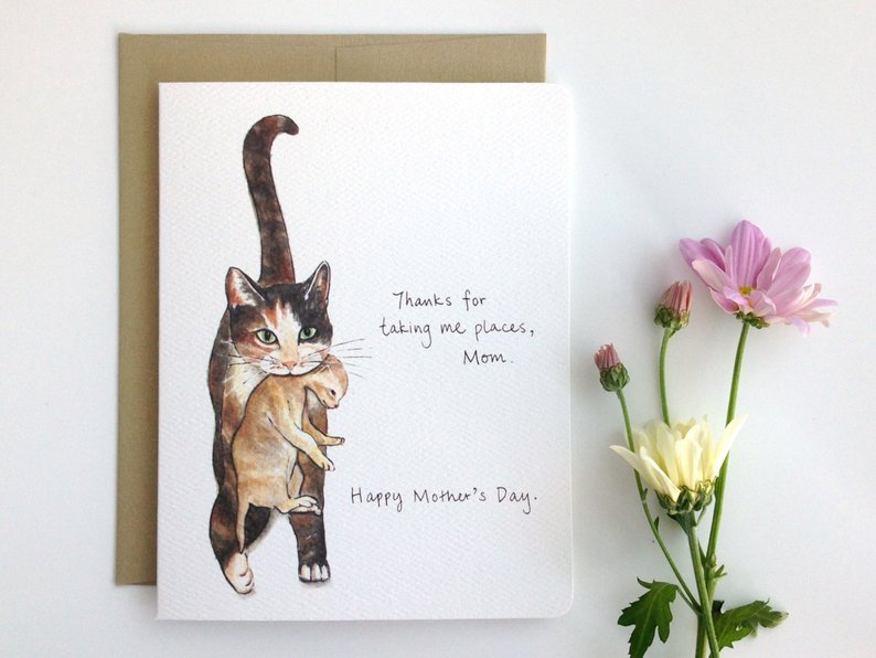 Cat Mom Card, $5