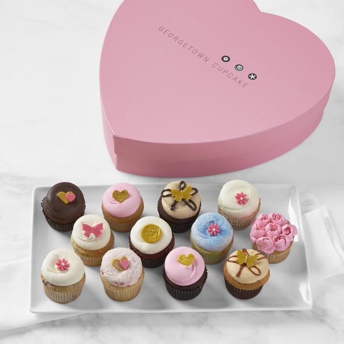 Heart Box Cupcakes, $70