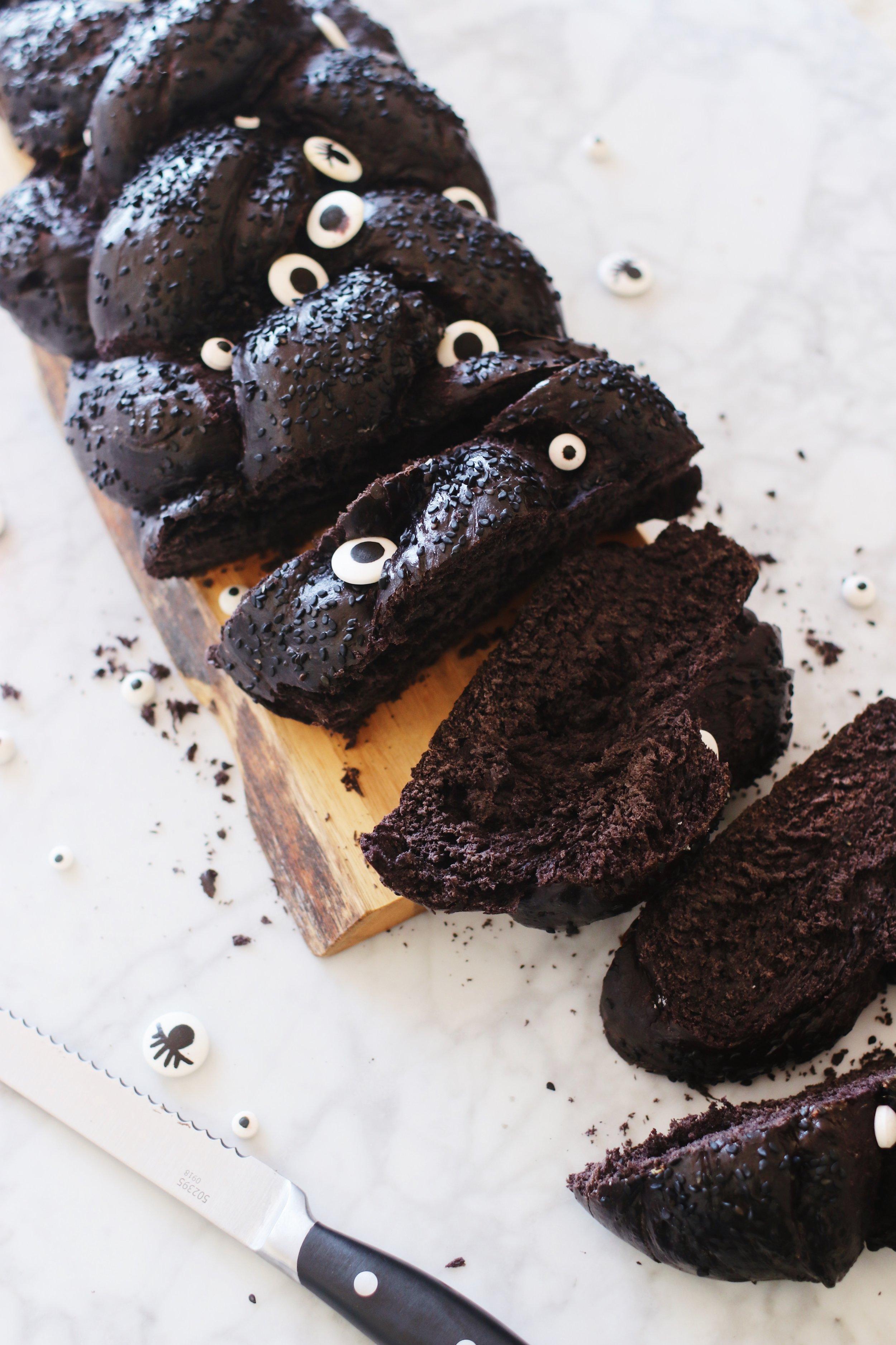 halloween-shabbat-ideas-black-challah-recipe-googly-eyes-5.JPG
