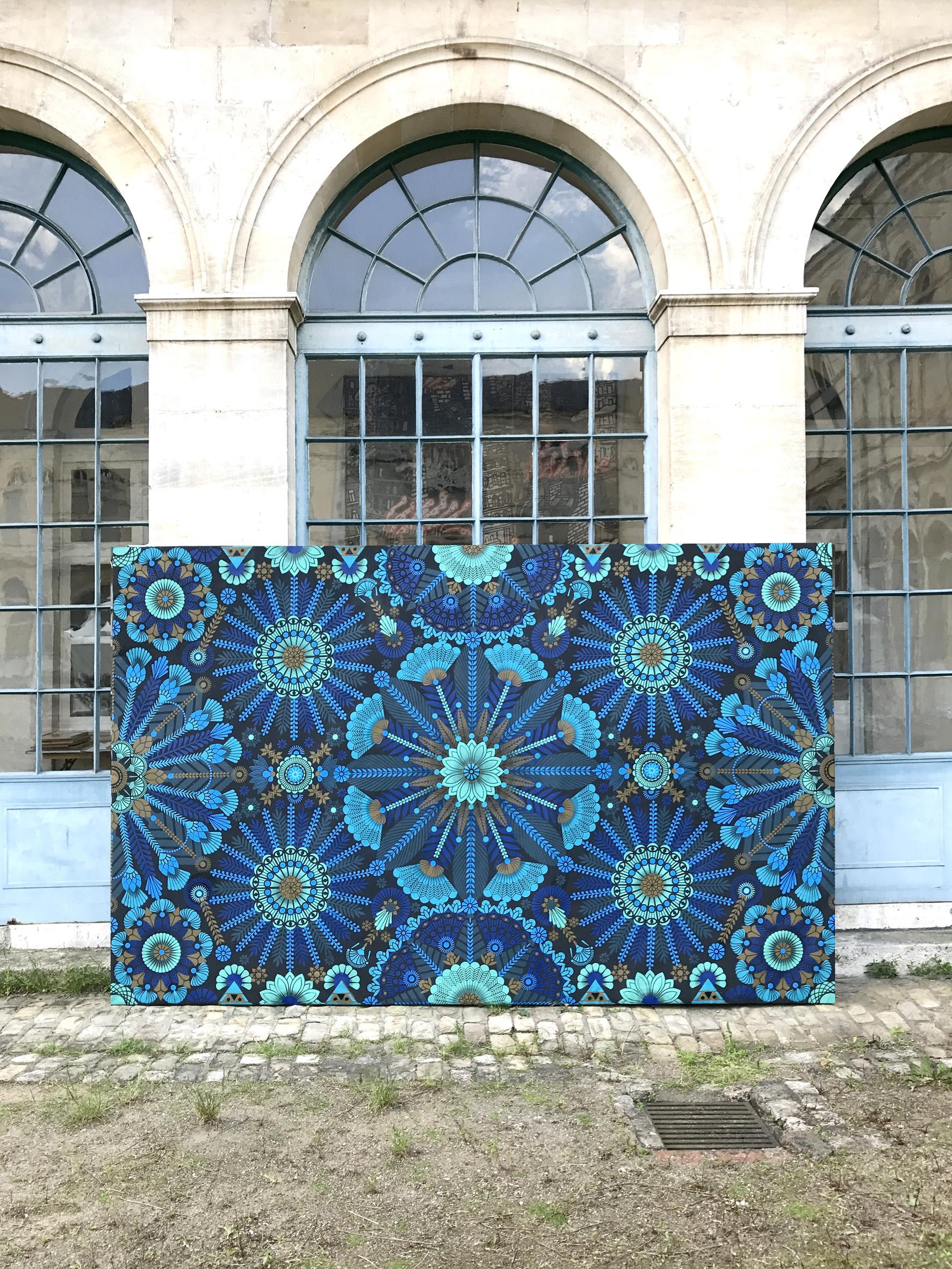 La Madeleine bleue  - Acrylic on canvas, 200 x 400 cm | 2017