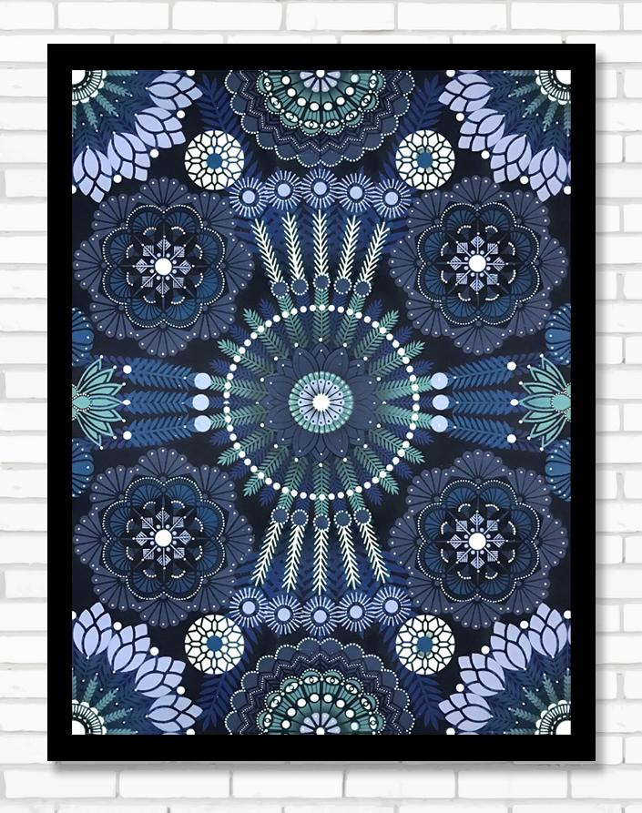 Kaleidoscopic Nature Saphphir  - Acrylic on canvas, 60 x 80 cm | 2018