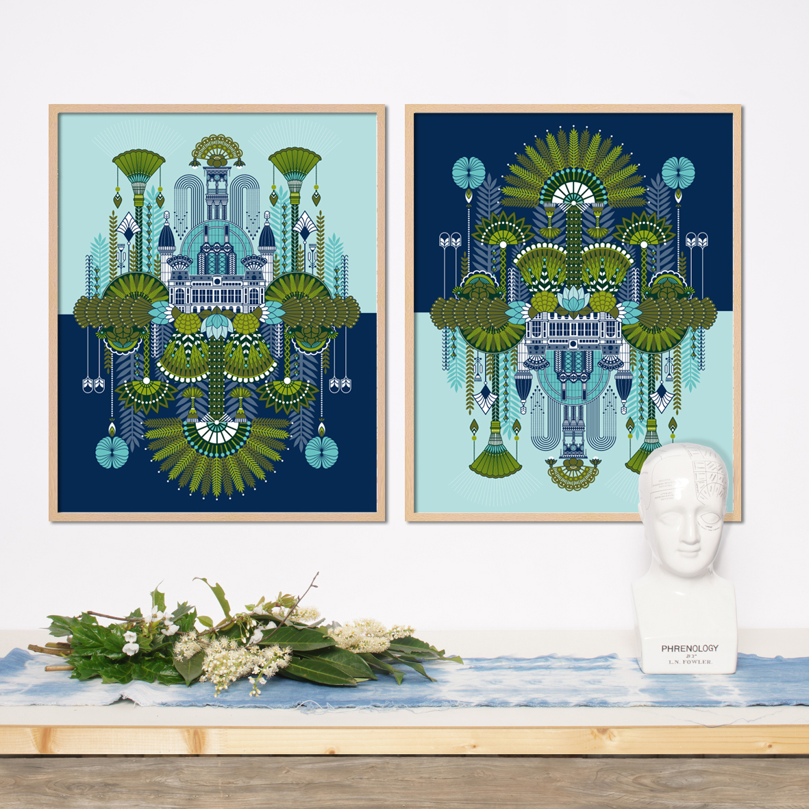 Versus, Temple of Nature  - Digitale illustration, silk screen print   2018