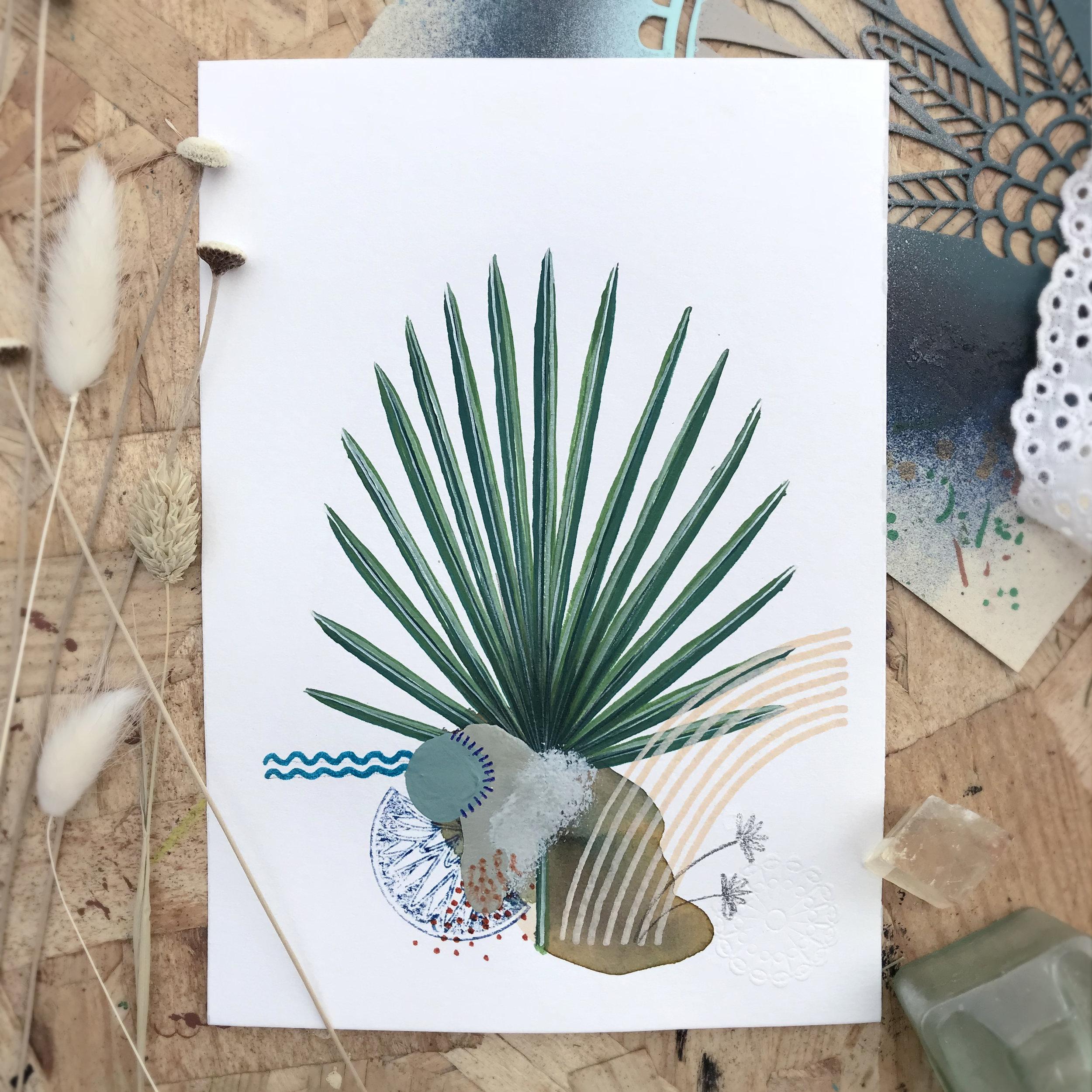 Malayia Adrikos  from Botanic garden, Herbarium - Mix media   2018