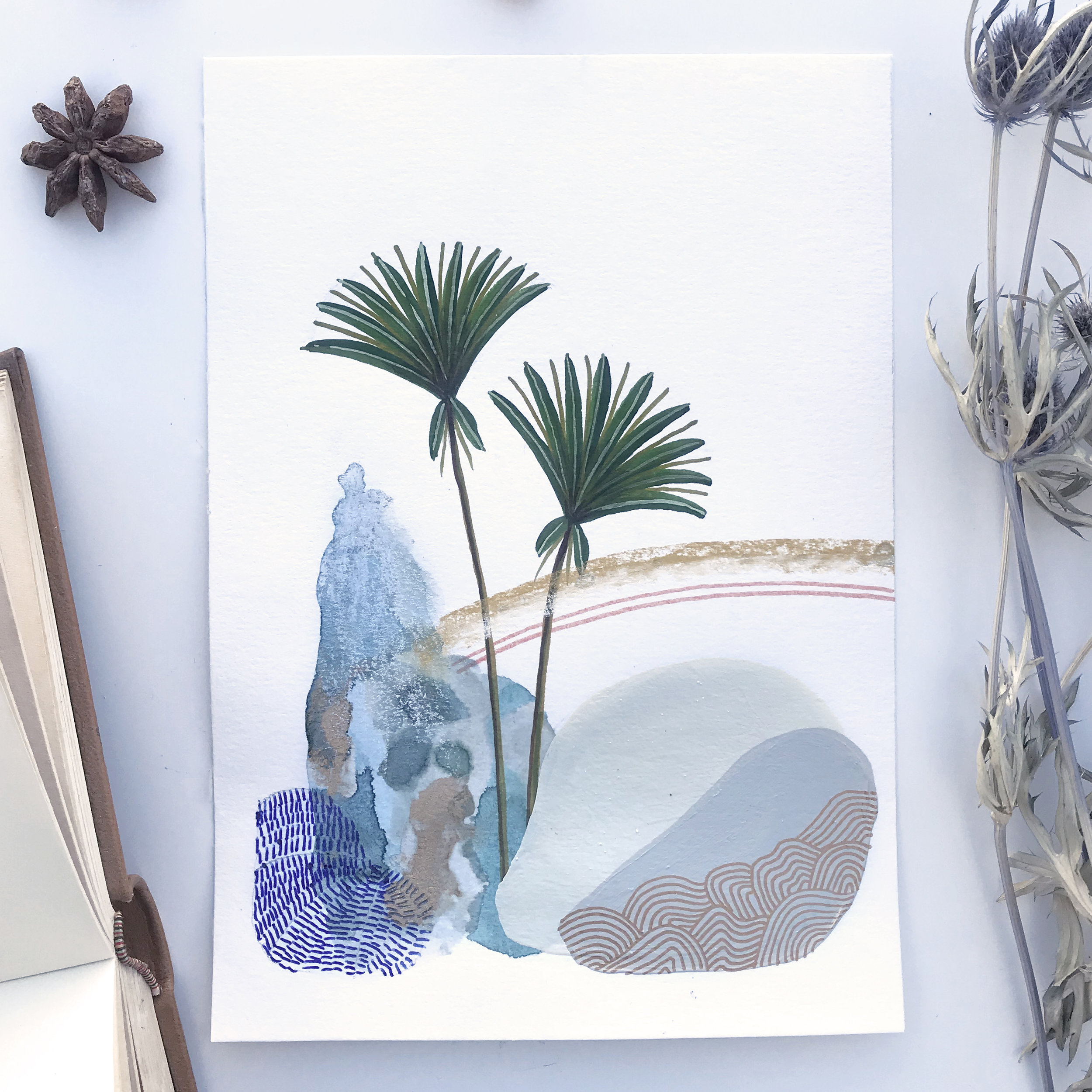 Althéïs Phedra  from Botanic garden, Herbarium - Mix media   2018