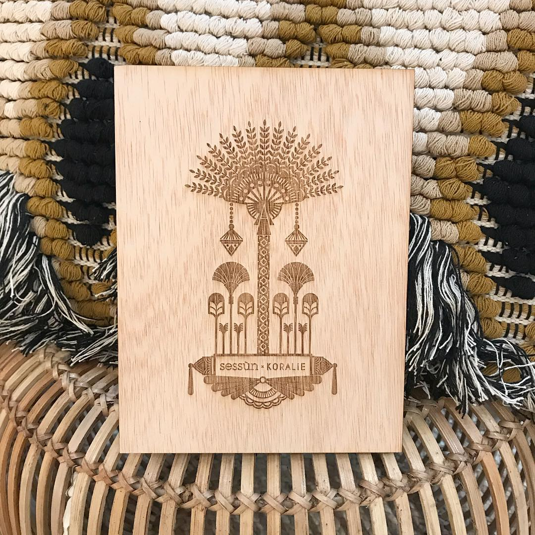 Engraved illustration on wood - Collaboration with Sessùn   2018