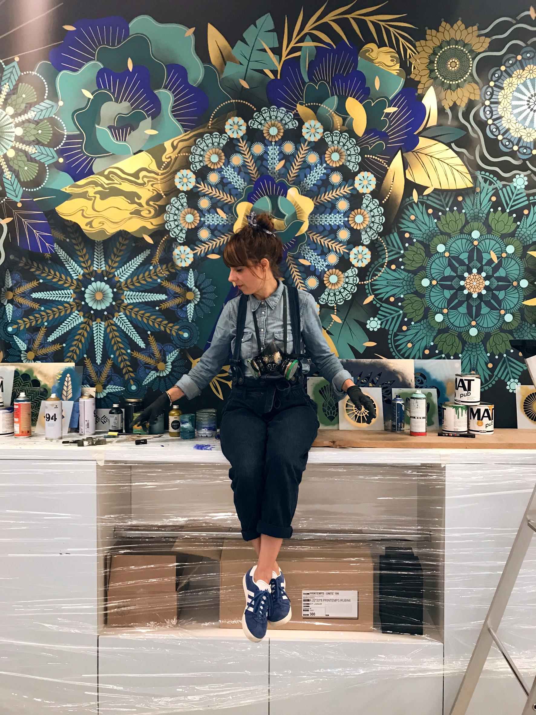 Mur Végétal #3  - Le printemps, Miramas - FR | 2017 w/ SupaKitch