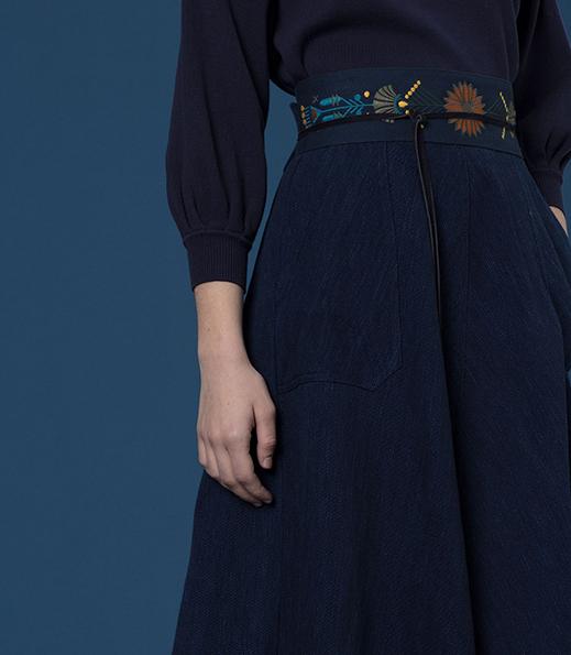 Working Blue -  Skirt, Sessun x Koralie collaboration | 2018