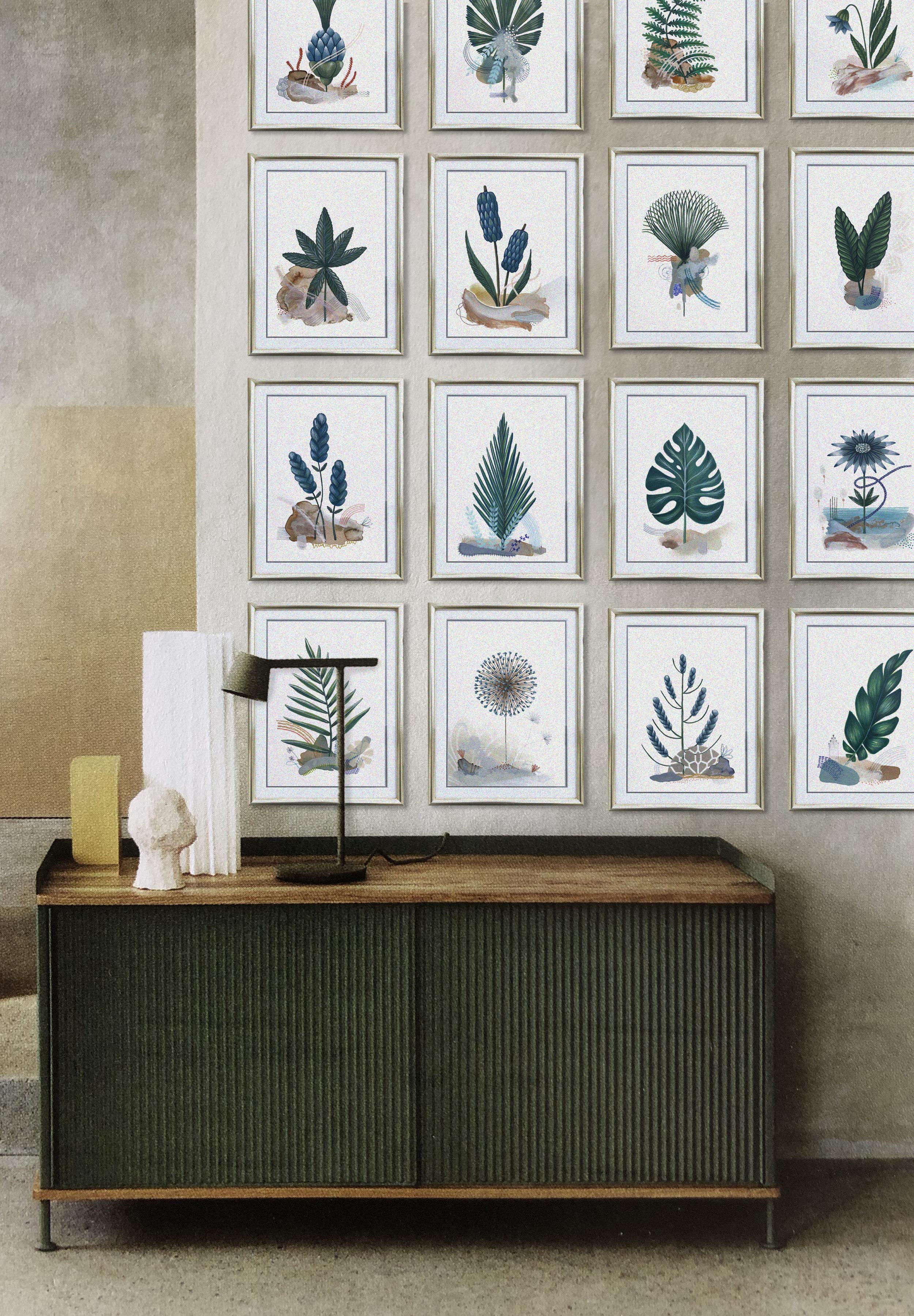 Botanic Garden  Imaginary Herbarium, serie of 66 dessins A5 - Mix medi | 2018 *  Photo-montage w/ MILK deco Magazine n°24 - P.19 | Pub   MUUTO