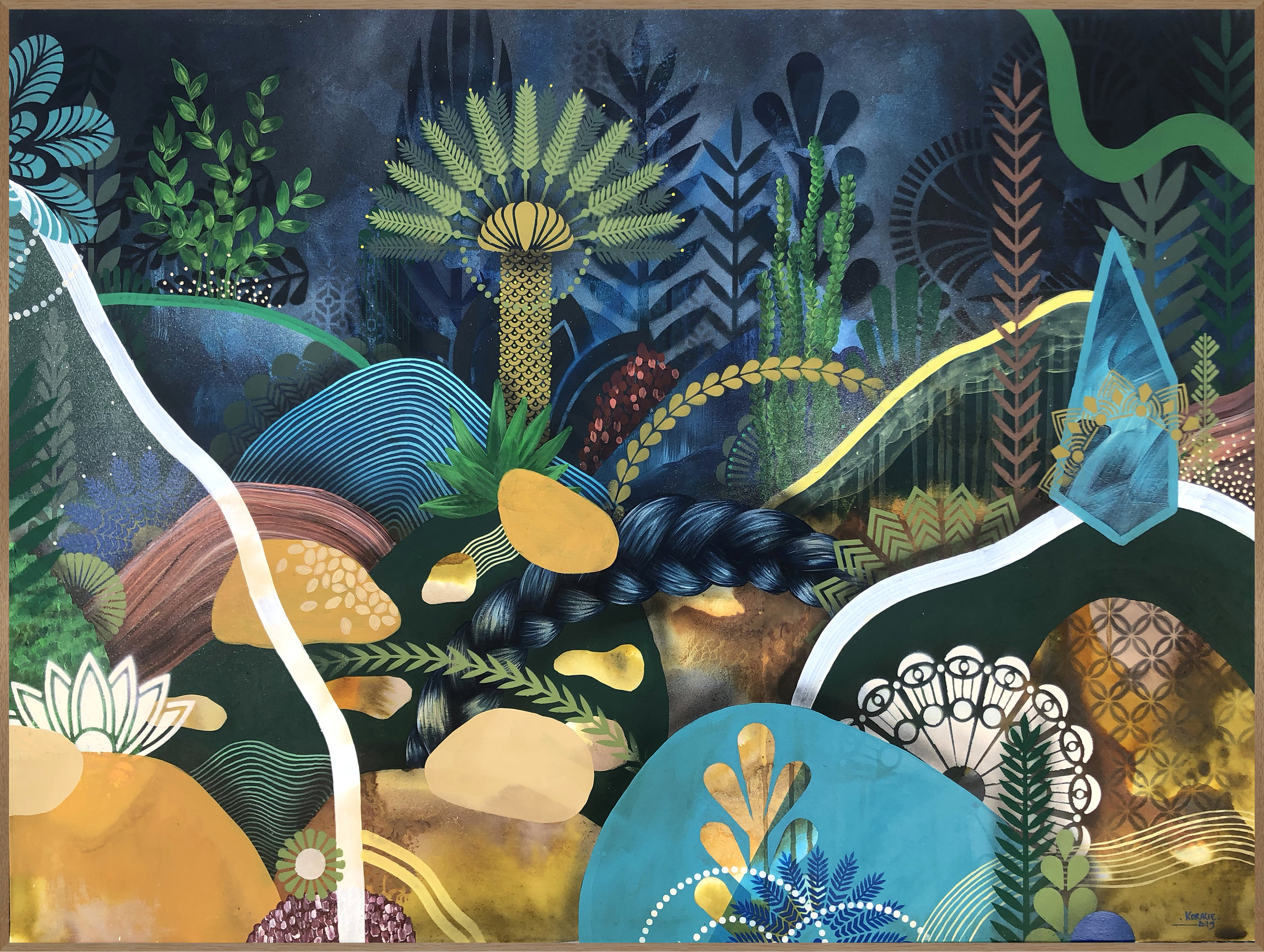 Acclimatation II  - Acrylic, oil and ink on canvas, 100 x 73 cm | 2019