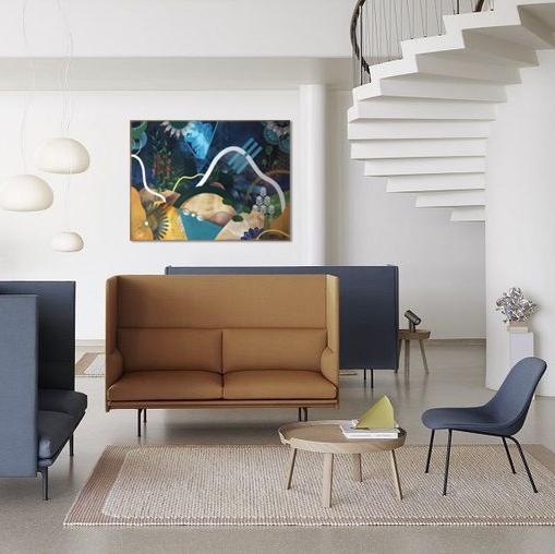 Acclimatation VI  - Acrylic, oil and ink on canvas, 100 x 73 cm | 2019 ©Muuto