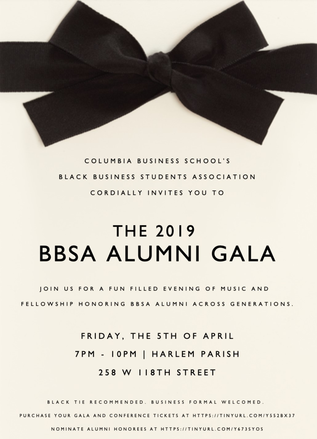 Join us for an evening of fellowship with the BBSA Community! -
