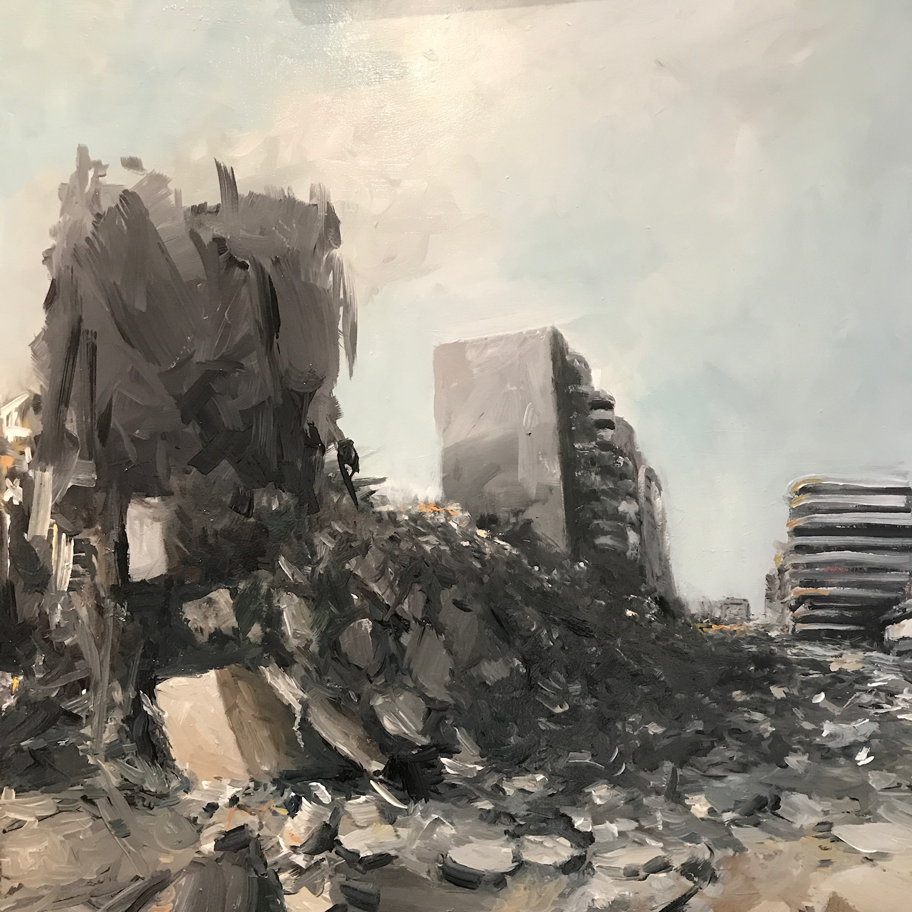 "Homs 2018. Oil on canvas 24""x 24"""