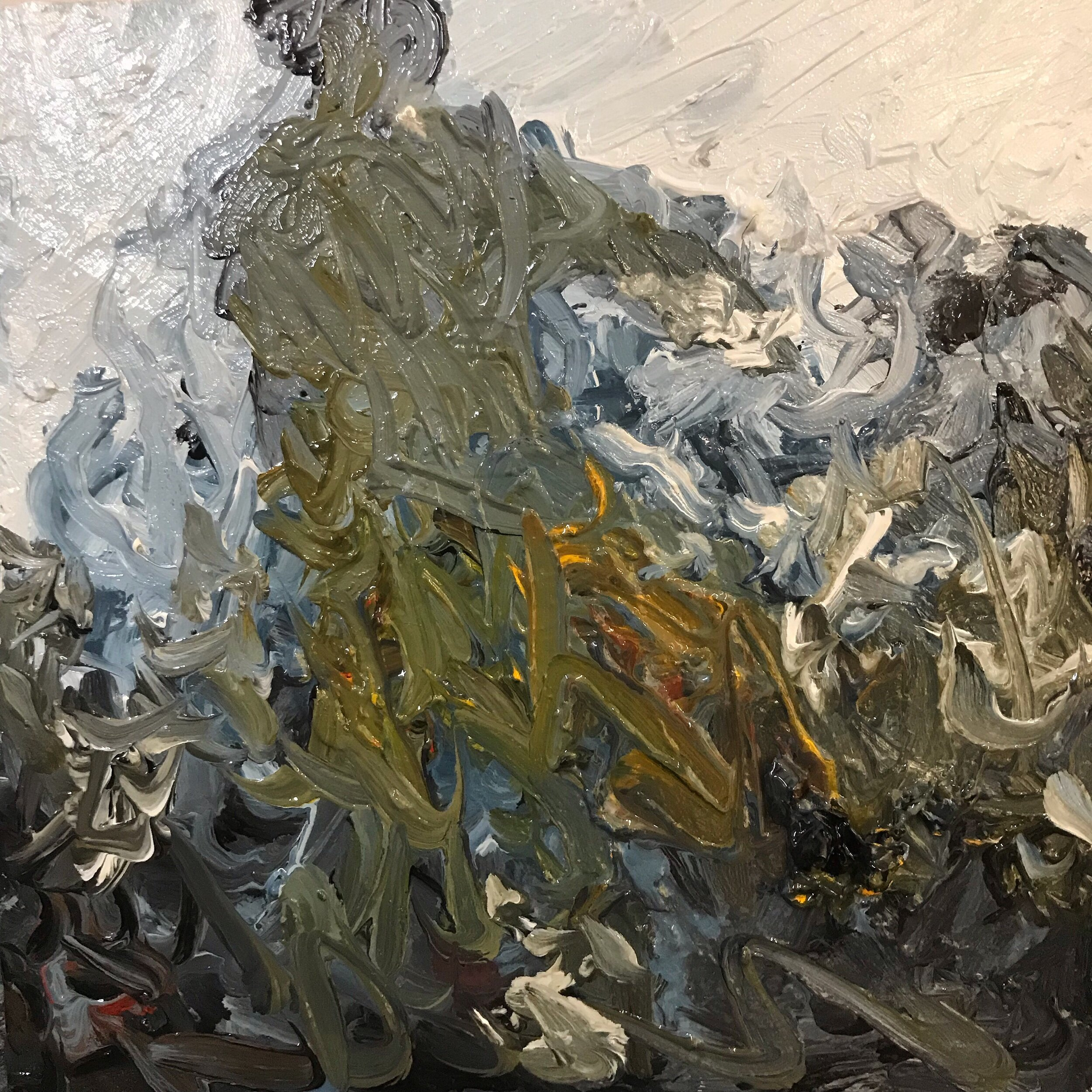 "untitled 8"" x 8"" oil on board 2019"