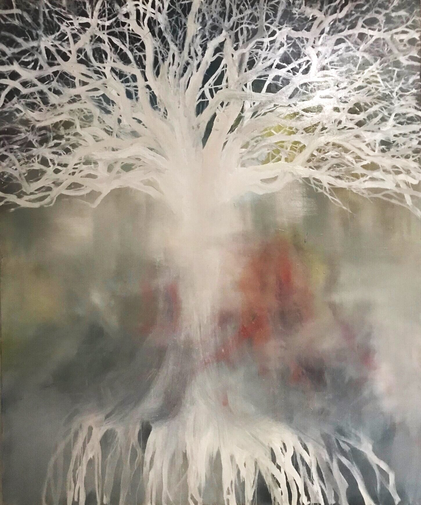 """Ghost tree"" 60""x 72"" Oil on canvas 2018-19"