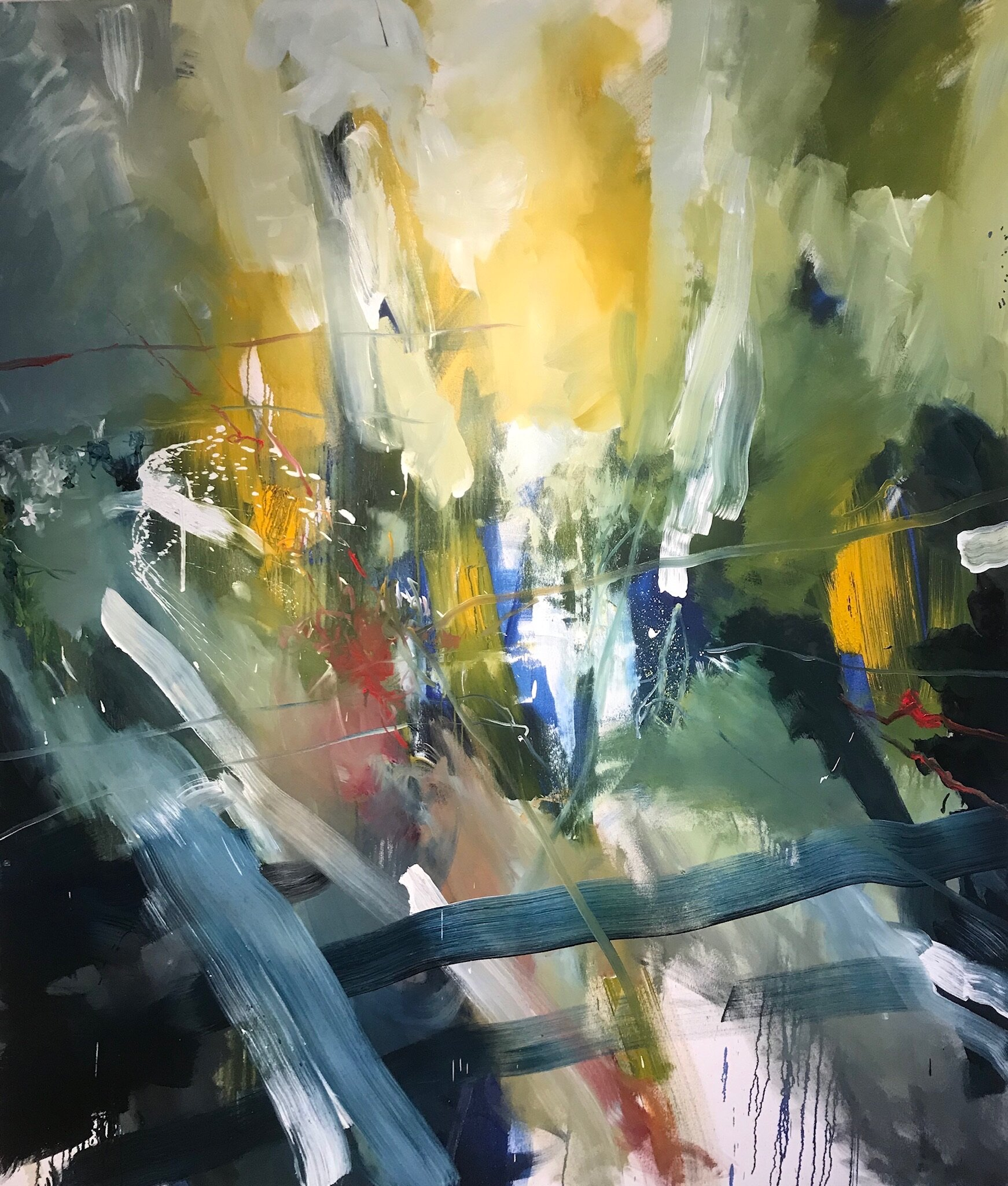 "Untitled 70"" x 80"" Oil on Canvas 2018-19"
