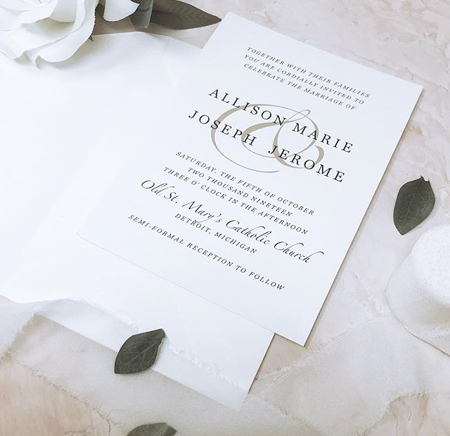 Happy wedding day, Allison & Joseph! Wishing you a lifetime of love and happiness 💕