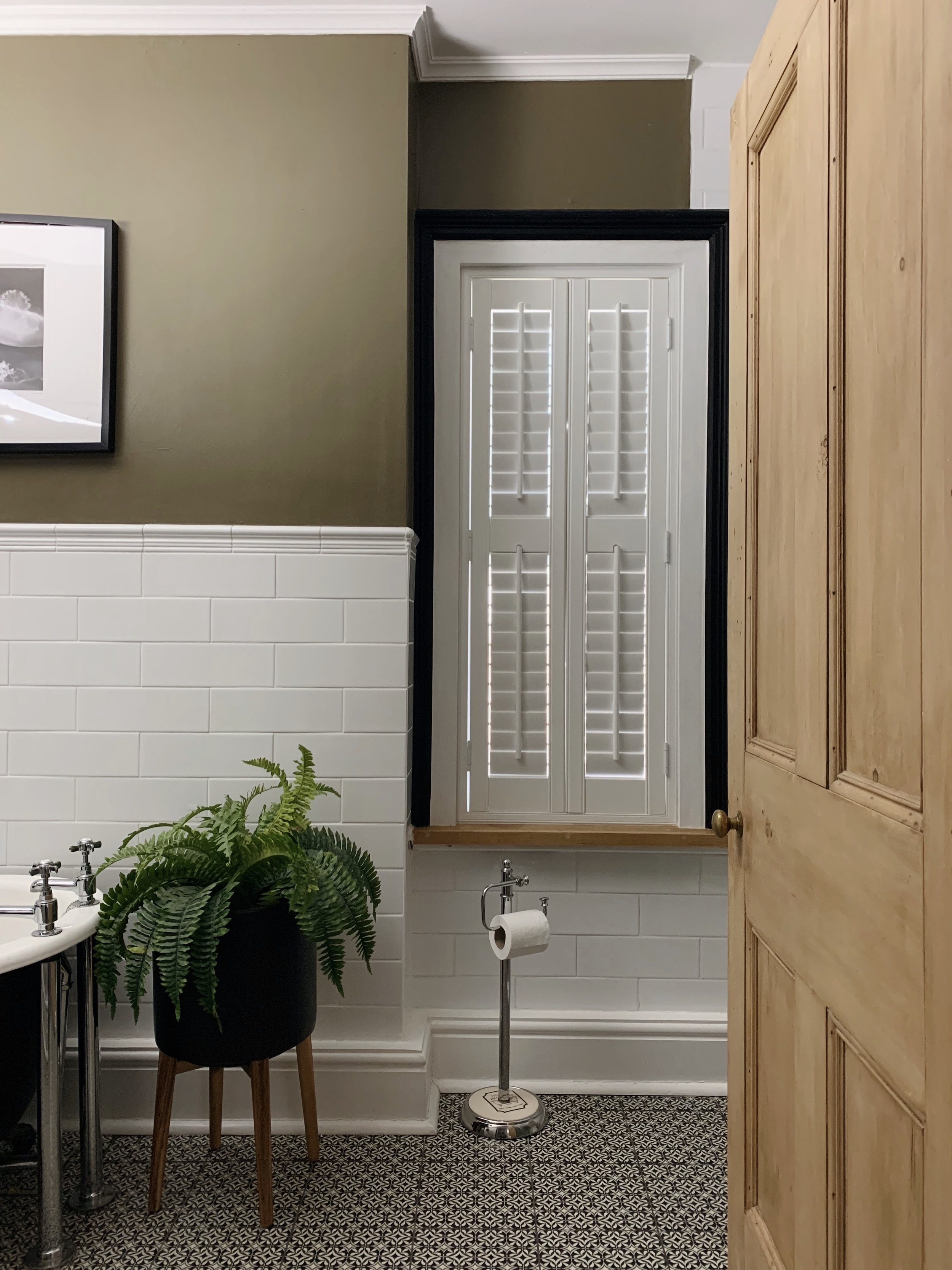 Our fitted bathroom shutters from 247 Blinds