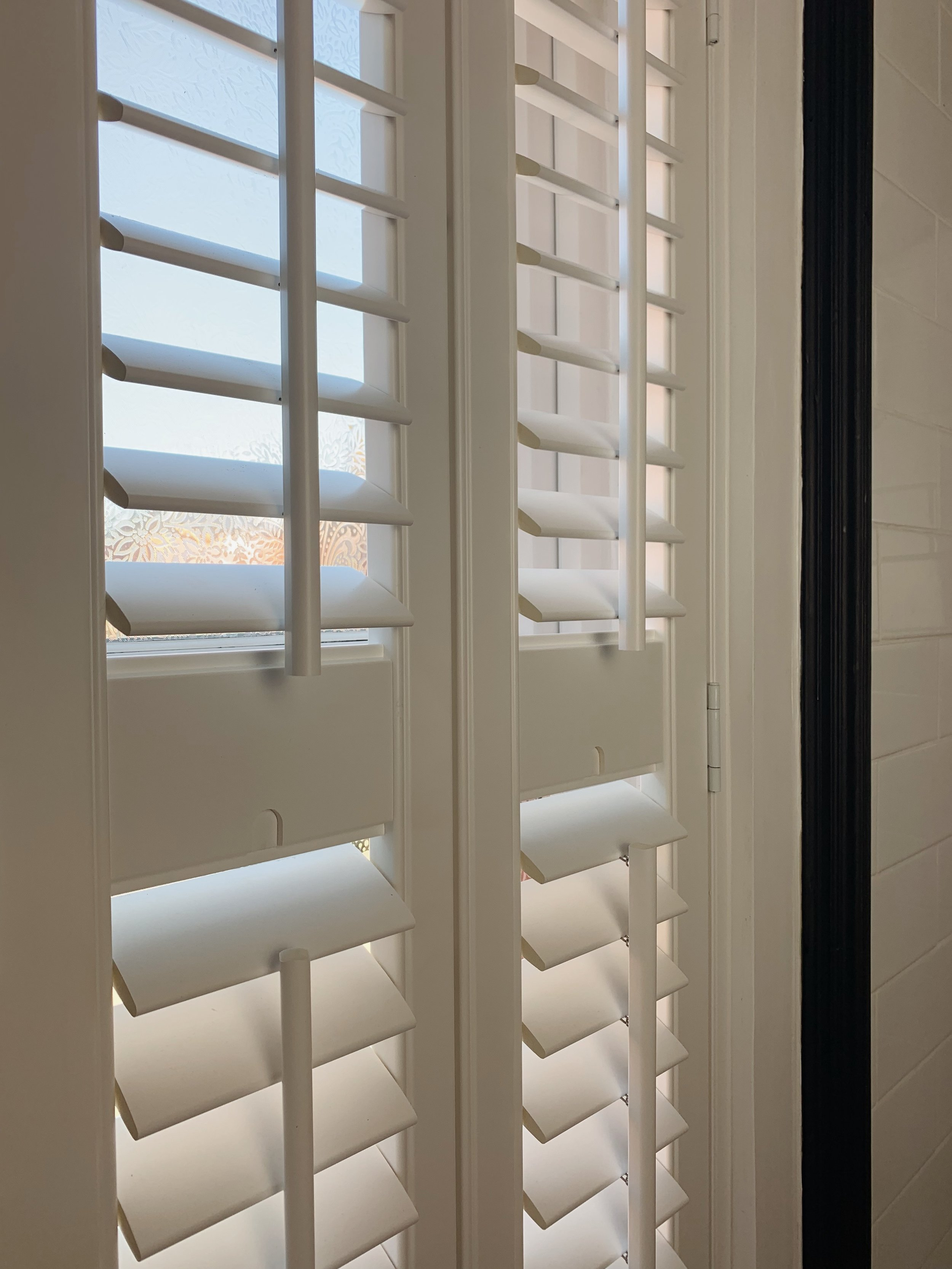 Our fully installed bathroom shutters from 247 Blinds