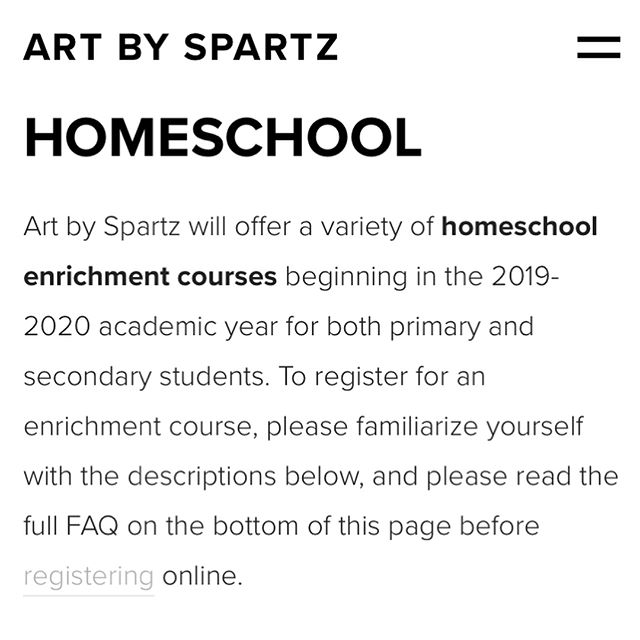🎨Homeschool enrichment course registration is now open!🎨 Head on over to www.artbyspartz.com/homeschool to browse this semester's course offerings! Classes begin after Labor Day and will take place at St. Michael's Episcopal Church in Noblesville. If you have any questions, please send us a DM! #kidart #artbyspartz #noblesville #indianapolis #indy #carmelindiana #fishersindiana #westfieldindiana #indyart #indyartist #art #homeschool #indyhomeschool #homeschoolart