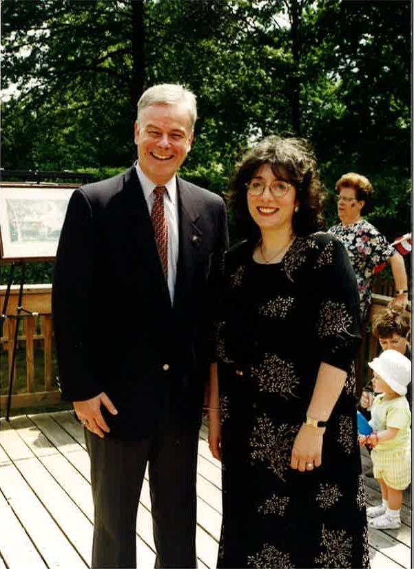 "Former Bergen County Executive, William ""Pat"" Schuber with Gail Tamirian-Mandeli"