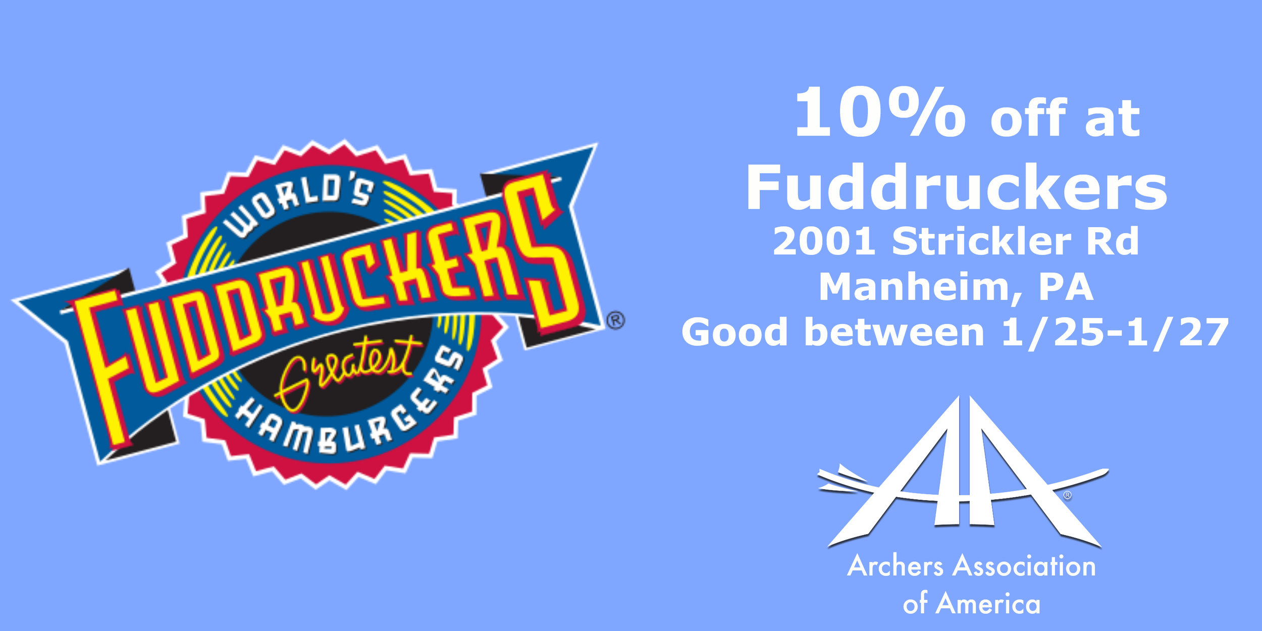 Fuddruckers - 10% discount; show this coupon.