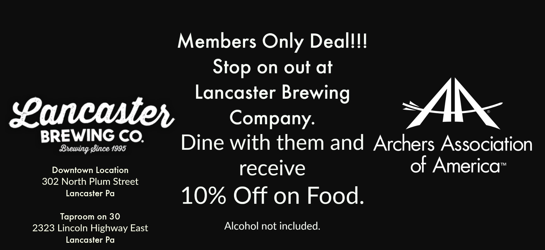 Lancaster Brewing Company - 10% discount; show this coupon.