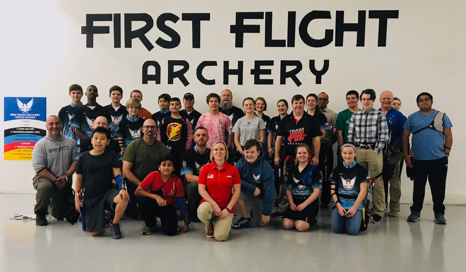 Lesley and some of her JOAD crew from First Flight Archery
