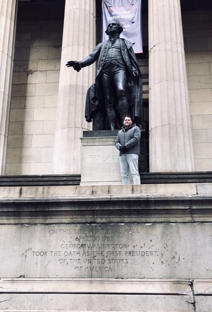 Federal Hall where George Washington took his presidential oath. The birth of the American Dream.
