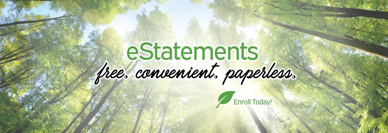 Estatements, free, convenient, paperless
