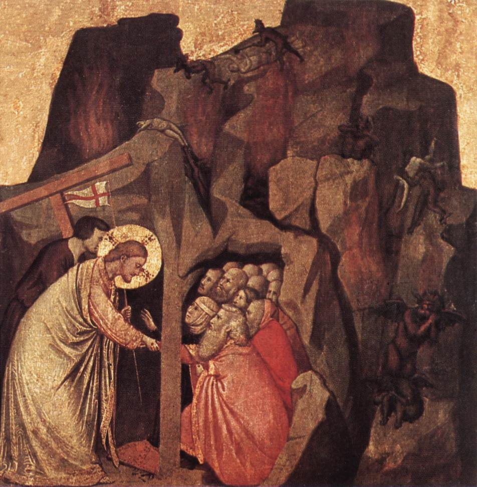 Artwork by: Giotto Di Bondone. Title: Descent into Limbo. Date: between 1320-1325. This work is in the public domain. { PD-US }
