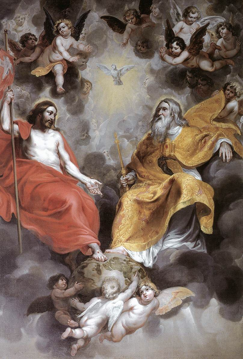 Artwork by Hendrick van Balen, a Flemish artist from the 17th century. Title: Holy Trinity. Date: 1620. Sint-Jacobskerk, Antwerp. This work is in the public domain. {{ PD-US }}