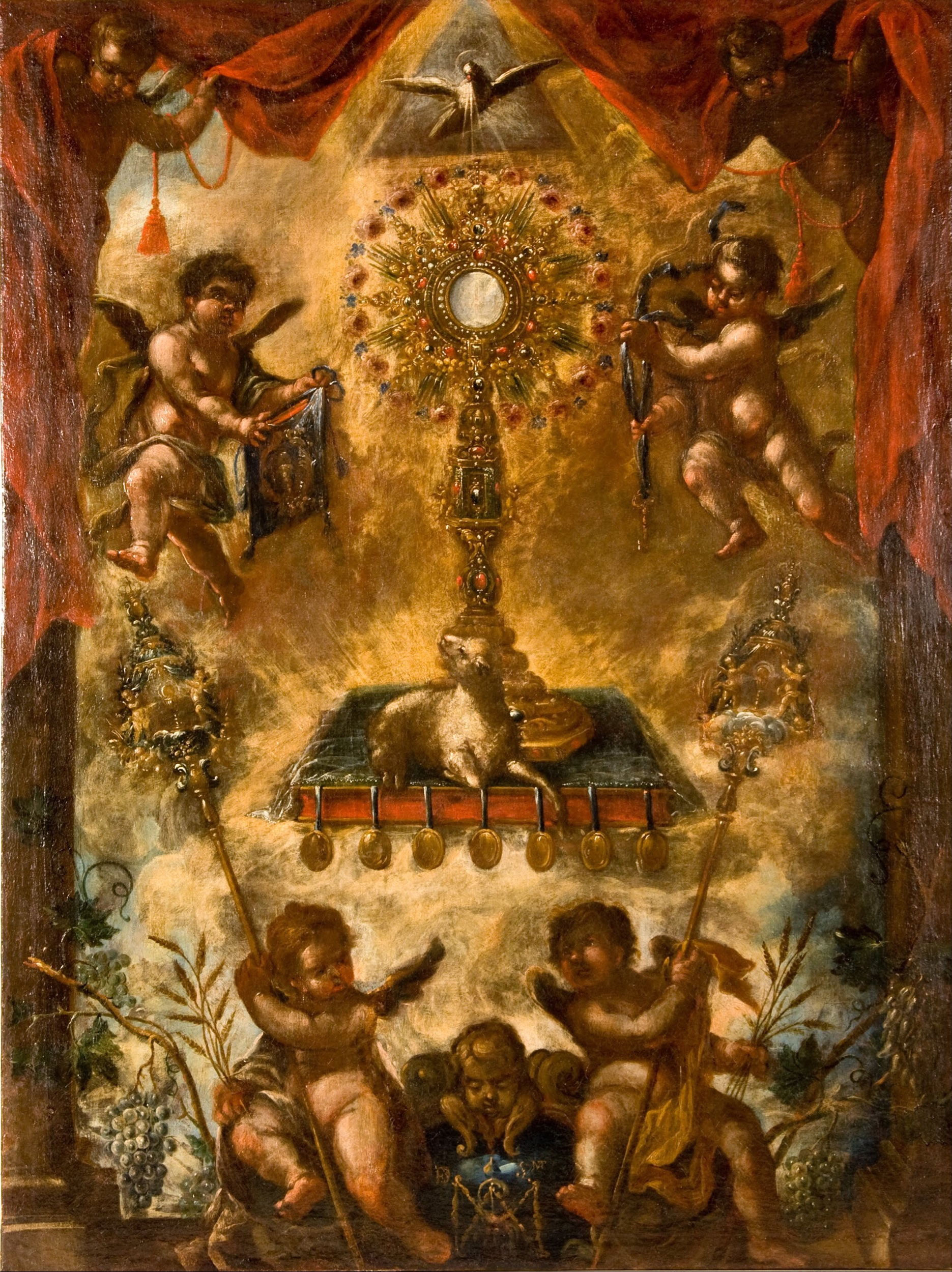 Artist: unknown. Title: Allegory of the Eucharist. Allegory of the Christian Sacrament of the Eucharist. Date: circa 1676-1725. Google Art Project. This work is in the public domain.