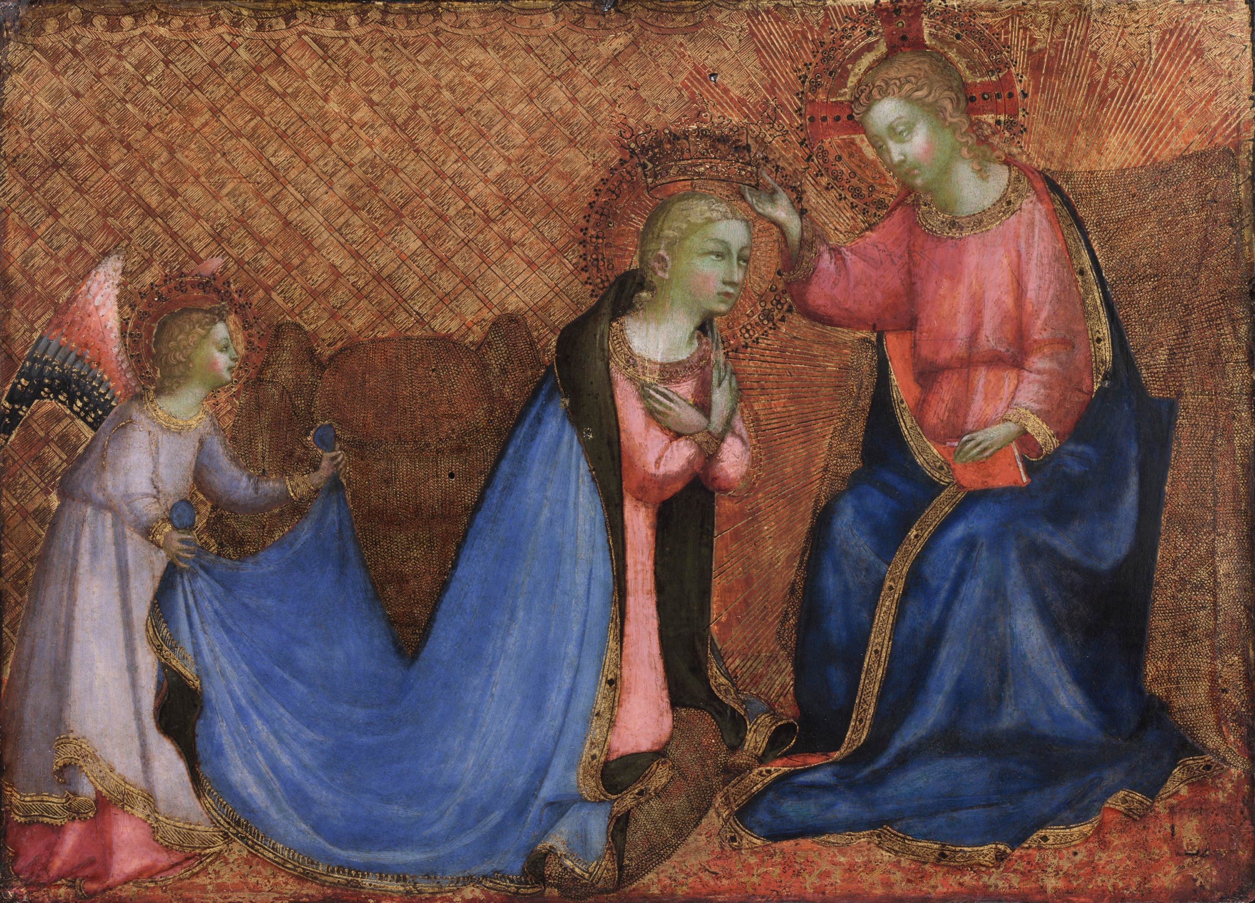 Coronation of the Virgin by Fra Angelico. Date: 1420. This work of art is in the public domain.