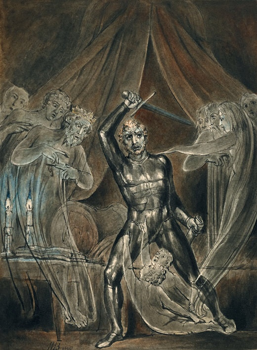 Richard III and the Ghosts by William Blake. Circa: 1806. This work is the public domain.