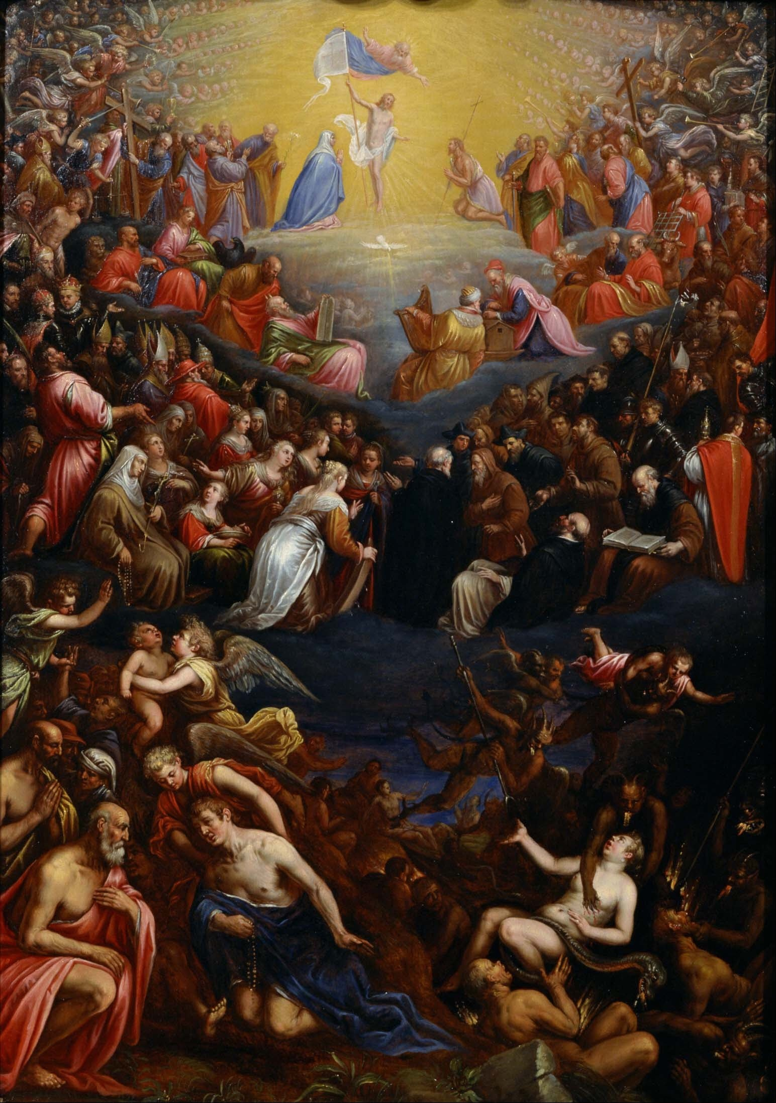 Leandro Bassano - The Last Judgement - Google Art Project. Circa: 1595. This work is in the public domain. {{PD}}