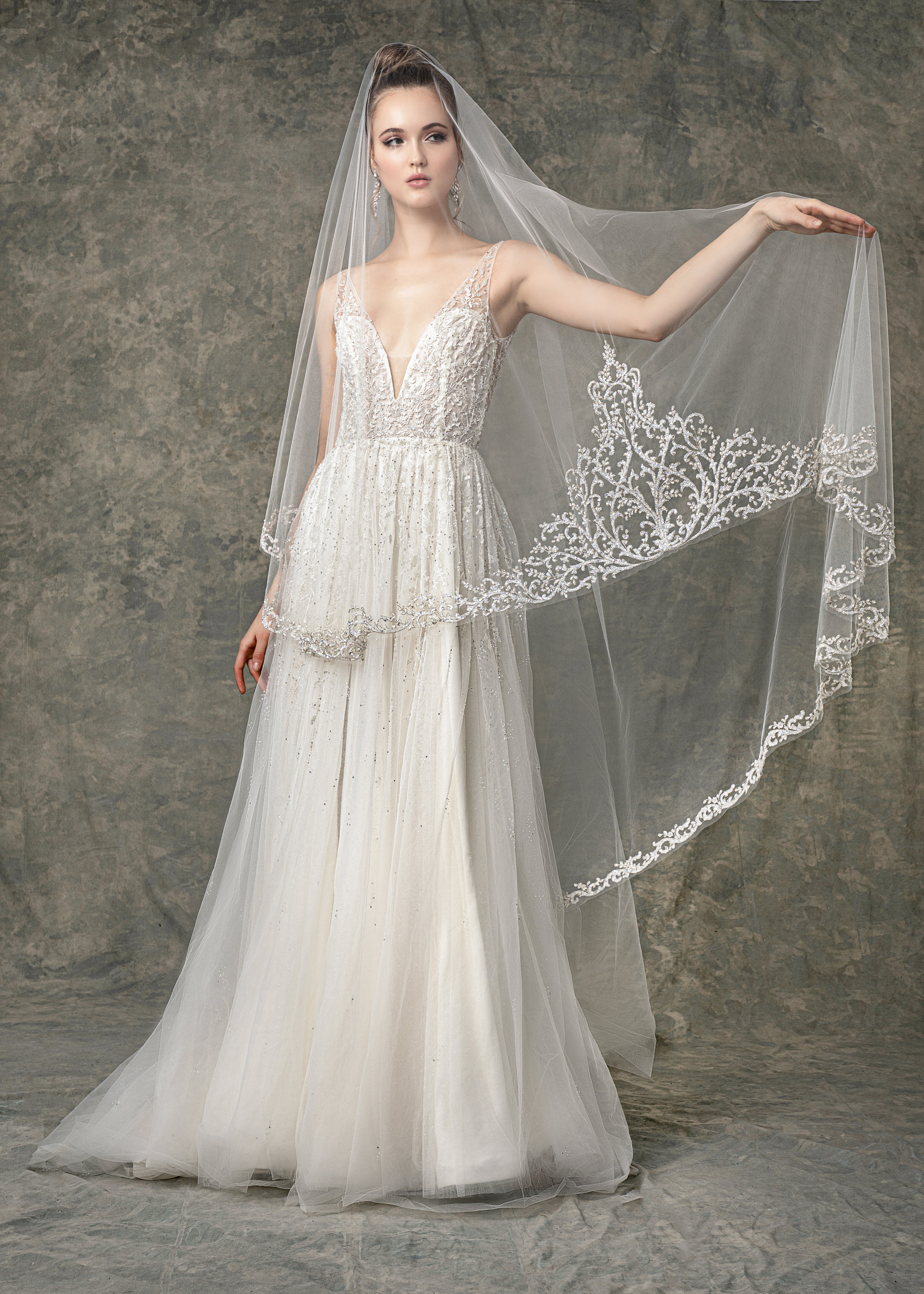 """WITH MATCHING VEIL STYLE BV1919 FROM """" BLOSSOM VEILS """""""