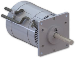 400 hertz electric motor design.