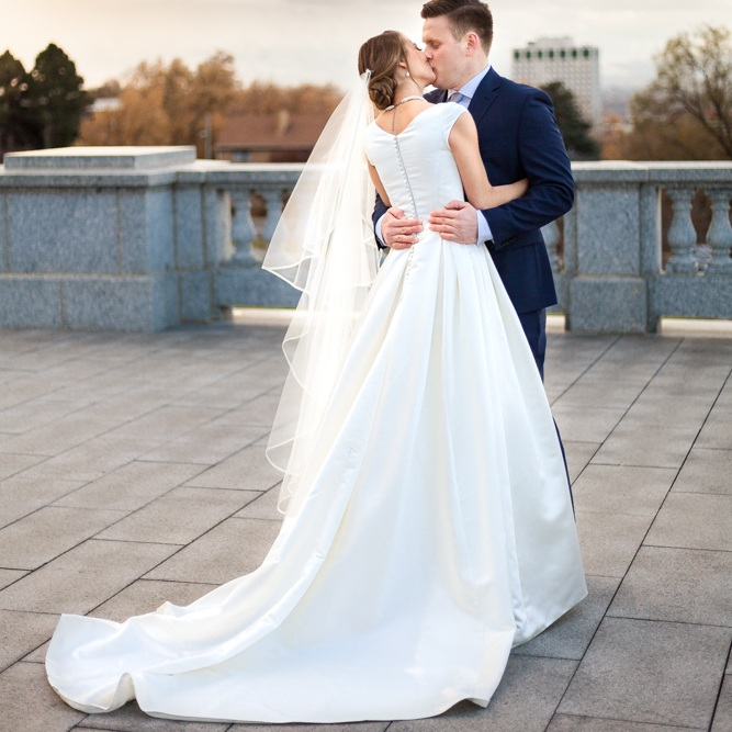 Dresses and veils -