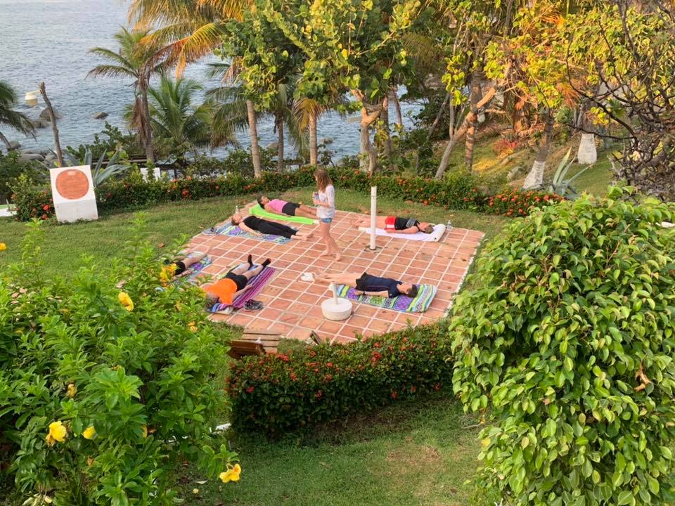 Yoga at our mediterranean resort