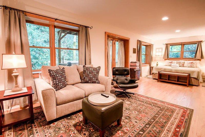 Waterfall: Lower Terrace Level Guest Room -  King Bed  w/Full Bath
