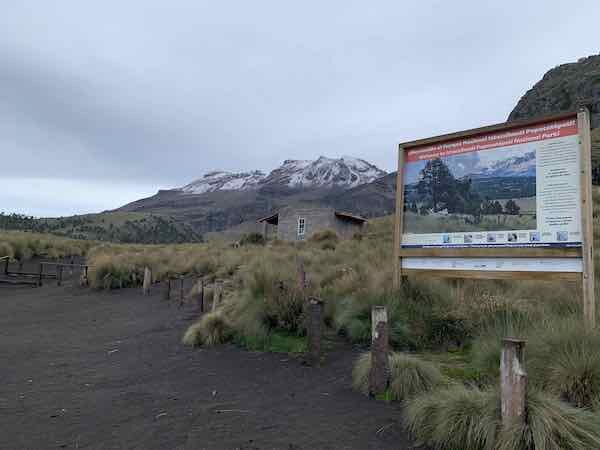 The base of Izta. 3rd highest climb in Mexico: 17, 160 feet.